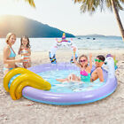 76 Kids Inflatable Swimming Pool Slide Sprayer Summer Water Fun Outdoor Game