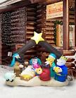 TRMESIA Christmas Inflatable Nativity Sets for Christmas Outdoor Built in 3 F