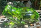 7 Large Art Glass Frog Sculpture Paperweight Figurine HEAVY