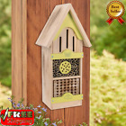 18 Tower Native Bee House Wooden Shelter Garden is hand crafted