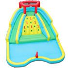 Double Slide Inflatable Mighty Water Slide Park Bouncy Splash Pool Climbing Play