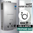 18L 5GPM Hot Water Heater Upgrade Type Propane Gas Instant Boiler W Shower Kit