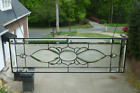 Gorgeous All Clear Beveled and Stained Glass Window Transom 99