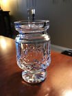 Waterford Crystal LISMORE footed jam jelly condiment jar w lid EUC vintage