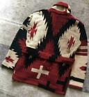 Polo by Ralph Lauren Fringe Knit Gown Cardigan S Native Pattern Cross Eagle rare