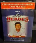 2015 Leaf Heroes Of Baseball 1 Stan Musial AUTO Per Box 20 Packs Factory Sealed