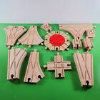 Thomas Wooden Railway Track Lot of 17 SWITCH TRACKS TURNTABLE ADAPTERS etc