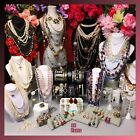 Vintage to Now Jewelry Lot Estate crystal Glass Pearls TRIFARI CHICOS