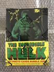 1979 Topps * The Incredible Hulk * Sealed Wax Box, 36ct Wax Packs, BBCE AUTH