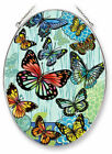 Amia Hugs  Kisses Butterflies Hand Painted Glass Suncatcher 9 Inches High 42210