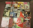 Lot of 13 Knit  Crochet Afghans PATTERNS Leisure Arts LEAFLETS  BOOKS Mixed