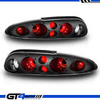 Black Replacement Tail Lights Lamps For 1993 2002 Chevy Camaro Z28 Left Right