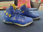 Stephen Curry Signed Warriors 2015 NBA Champs signed Jersey display Shoes