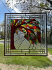 Beveled Tree Stained Glass Window 22 5 8 X 22 5 8 Design7