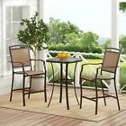 3 Piece Outdoor Patio Bistro Set Table Chairs Garden Seating Conversation Sets