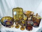Indiana Glass Iridescent Gold Carnival Glass Harvest Grape Sold Individually