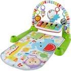 Fisher Price Deluxe Kick  Play Removable Piano Gym Green Birth To 36 Months NEW