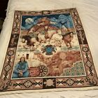 Native Legacy Panel Quilt Hand Quilted Beaded Tapestry Wall Hanging 36X45