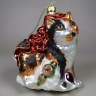 Hand Blown Glass Calico Kitten Cat Christmas Ornament Wrapped Up in Decorations