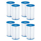 Summer Waves P57000302 Replacement Type B Pool and Spa Filter Cartridge 8 Pack