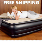 Inflatable Double High Raised Air Bed Mattress Airbed Built in Electric Pump NEW