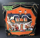 Lemax 2014 Spooky Town Village Halloween Tricked Out House Lit Building #45674