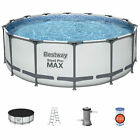 Bestway Steel Pro MAX 14 x 4 Foot Above Ground Round Swimming Complete Pool Set