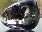 Great BLOB Freeform ART GLASS PAPERWEIGHT Purple Clear ARTIST SIGNED AT