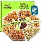 Fathers Day Nut Gift Basket + Green Ribbon 7 Piece Assortment 1 LB Prime Ar