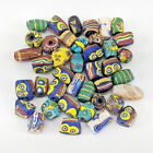40 Mixed Rounded Antique Venetian Millefiori Glass African Trade Beads