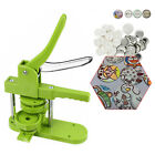 Green 225 58mm Button Maker Badge Machine w 100 Parts Circle Cutter for Kids