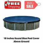 18Ft Round Above Ground Swimming Pool Cover Solar Leaf Protection Summer Outdoor