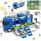Police car Toys Whit Play Mat  Push and Go Truck with Sound and Lights Die cast