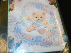 DIMENSIONS Stamped Cross Stitch QUILT KIT Hugs N Kisses 3186 Angels Bear NEW