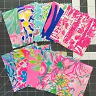Lot Of 50 5x5 AUTHENTIC Lilly Pulitzer fabric Assorted Fabric Squares