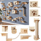 Wall Mounted Cat Shelf Wooden Perches Bed For Sleeping Playing Climbing Shelves