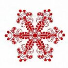 TEN WINTER SNOWFLAKES  EMBROIDERED QUILT BLOCKS