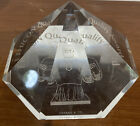 Ethicon Quality Award Etched Glass Diamond Shaped Paperweight by Tiffany  Co