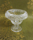Vintage WATERFORD CRYSTAL Turnover SMALL Pedestal Compote Bowl Gothic Acid Mark