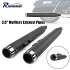 35 Black Slip On Mufflers Drilled Tips Exhaust Pipes For Harley 95 16 Touring