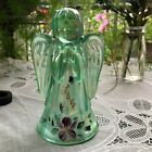 FENTON HANDCRAFTED GLASS 6H LOVE ANGEL GREEN