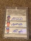 Nolan Ryan Gaylord Perry Fergie Jenkins 2005 hall of famers auto autograph #7 10