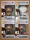 Funko POP! Bob Ross Set of 4, Chase, DIY & Target Exclusives, with Protectors