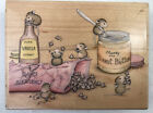 Rubber Stamp Wood Mount Stampabilities House Mouse Mice Baking HMPR1052 RARE