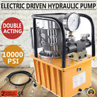 10000PSI Double Solenoid Valve Electric Driven Hydraulic Pump Double acting 110V