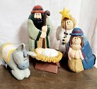 Eddie Walker Midwest Of Cannon Falls Set 5 Large Nativity Christmas Rare