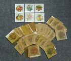 Vintage stickers 85 pieces drawing flowers fruits Stamp 1976