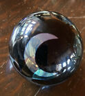 Vintage Black Glossy Correia Art Glass Paperweight