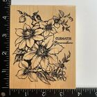 PSX Designs Clematis Ranunculaceae K2288 Wood Mounted Rubber Stamp Flowers