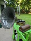 WORKS Antique Edison Cylinder Home Phonograph Type C With Horn